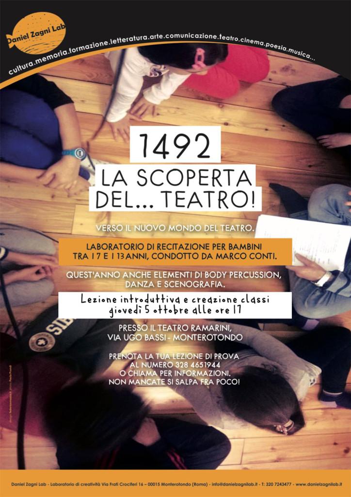 Laboratorio di teatro per bambini condotto da Marco Conti - edizione 2017/18 - ass. Daniel Zagni Lab