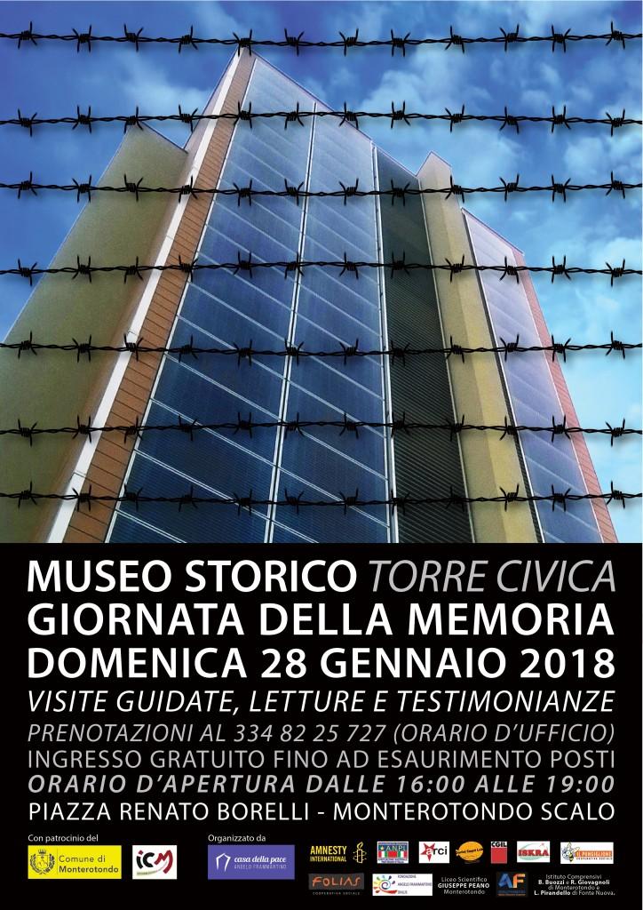 Giornata della Memoria al museo Torre Civica- Monterotondo 28/01/2018