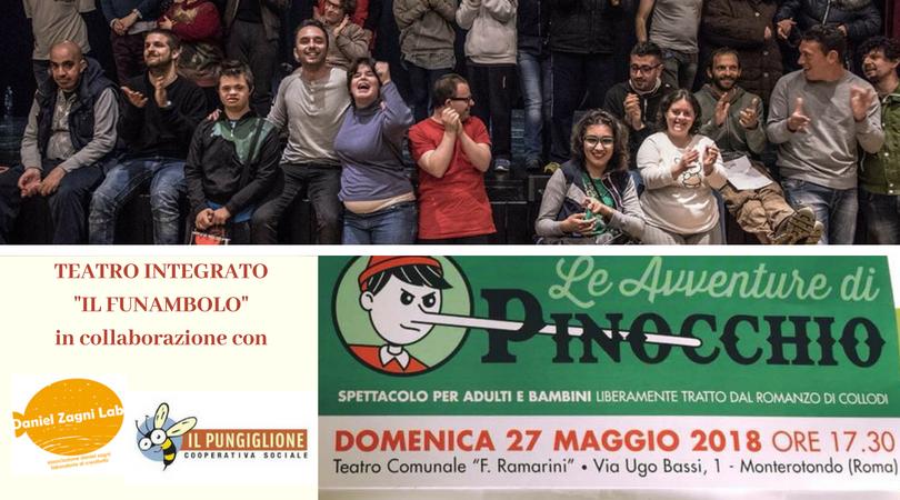 """Spettacolo di teatro integrato, dal laboratorio """"Il Funambolo"""", a cura di Daniel Zagni Lab"""